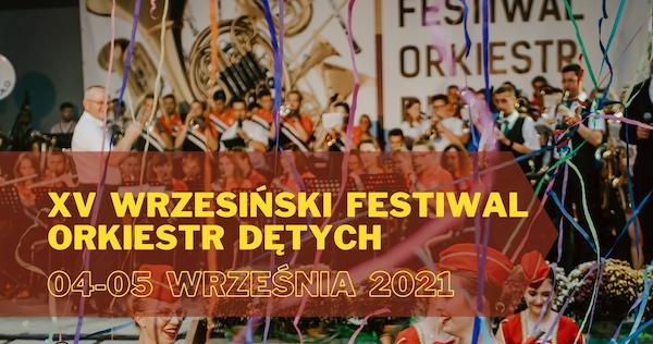 Plakat XV Wrzesińskiego Festiwalu Orkiestr Dętych