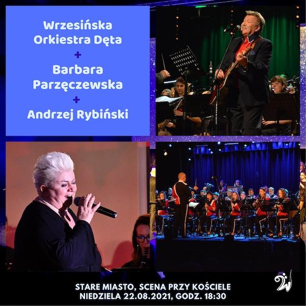 Plakat koncertu z Andrzejem Rybińskim i Barbarą Parzęczewską