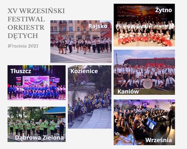 Orkiestry XV Wrzesińskiego Festiwalu Orkiestr Dętych